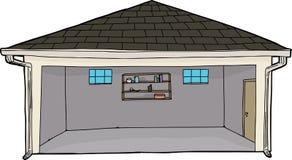 Пустой гараж с входом иллюстрация штока