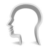 пустой головной профиль Иллюстрация вектора