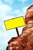 пустой дирекционный знак столба Стоковые Фото