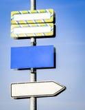 Пустой дирекционный знак Стоковые Фотографии RF
