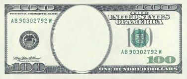 пустой доллар 100 Стоковое Изображение