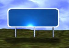 пустой дорожный знак Стоковые Фотографии RF