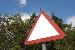 пустой дорожный знак Стоковое Изображение RF