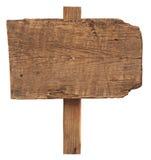 Пустой деревянный знак Стоковое Изображение
