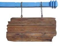Пустой деревянный знак Стоковое Изображение RF
