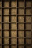 Пустой деревянный ящик принтеров Стоковая Фотография