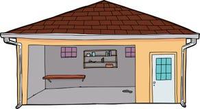 Пустой желтый гараж иллюстрация вектора