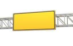 Пустой желтый знак, дорожный знак Стоковые Изображения