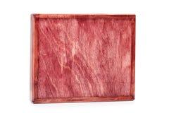 Пустой закрытый контейнер для поставлять Широкая сырцовая деревянная коробка для малых деталей изолированных на белой предпосылке Стоковая Фотография