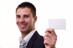 пустой знак визитной карточки Стоковое Изображение RF