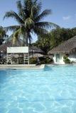 пустой знак курорта бассеина тропический Стоковое фото RF