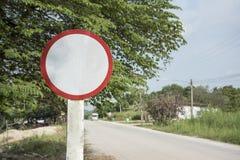 Пустой знак на дороге Стоковая Фотография