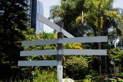 Пустой знак парка Стоковое фото RF