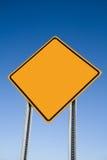 пустой знак предосторежения Стоковое Изображение RF