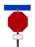 Пустой знак стопа с знаками над и под Стоковые Фотографии RF