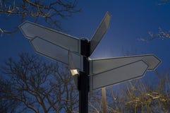 пустой знак столба Стоковая Фотография RF