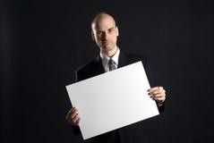 пустой знак человека удерживания Стоковая Фотография