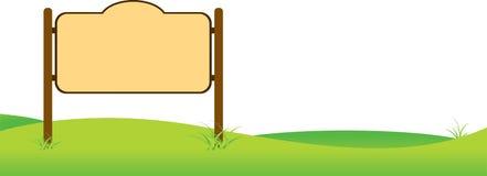 Пустой знак иллюстрация вектора