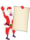 пустой знак santa удерживания рождества Стоковые Фото