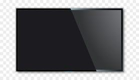 Пустой дизайн вектора экрана ТВ Концепция телевидения цифров широкая Модель-макет приведенный вектора плоский или lcd экрана Стоковое Изображение