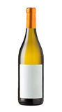 пустой изолированное бутылкой вино ярлыка Стоковые Фото