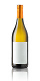 пустой изолированное бутылкой вино ярлыка Стоковая Фотография