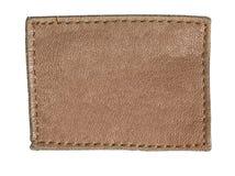 Пустой изолированный ярлык джинсов Стоковые Фото