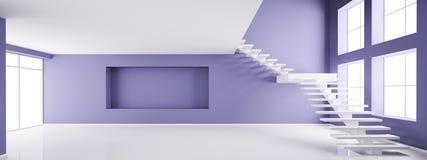 Пустой интерьер 3d представляет бесплатная иллюстрация
