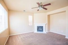 Пустой интерьер комнаты - живущая комната Стоковое Изображение