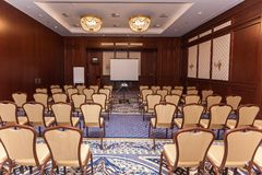 Пустой интерьер конференц-зала Стоковые Изображения