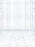 Пустой интерьер с керамической плиткой Стоковые Фотографии RF