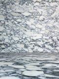 Пустой интерьер с мраморной текстурой Стоковые Фотографии RF