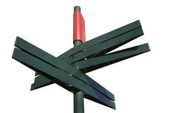 Пустой дирекционный столб знака (путь клиппирования) Стоковое фото RF
