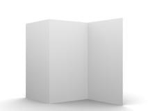 Пустой дисплей модель-макета рогульки Стоковые Изображения