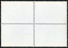 Пустой лист сувенира блока штемпеля почтового сбора на черной предпосылке стоковые фотографии rf