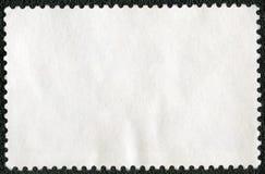 Пустой лист штемпеля почтового сбора на черной предпосылке стоковая фотография rf