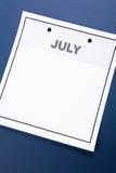 пустой календар Стоковое Изображение RF