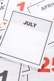 пустой календар Стоковое Фото