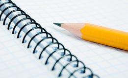 пустой карандаш тетради Стоковая Фотография RF