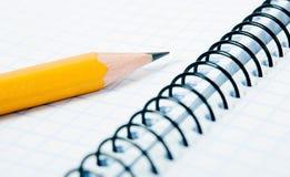 пустой карандаш тетради Стоковые Фото