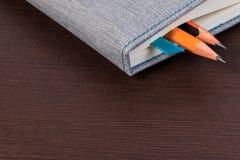 пустой карандаш тетради Стоковое Изображение RF