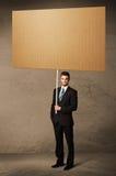 пустой картон бизнесмена Стоковые Фотографии RF