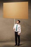 пустой картон бизнесмена Стоковые Фото