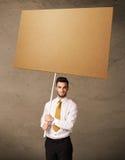 пустой картон бизнесмена Стоковое Изображение
