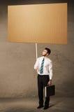 пустой картон бизнесмена Стоковая Фотография RF
