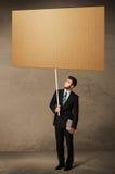 пустой картон бизнесмена Стоковое Изображение RF