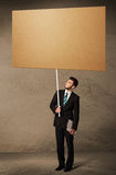 пустой картон бизнесмена Стоковая Фотография