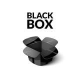 Пустой картон упаковывая, открытый значок коробки в стиле шаржа бесплатная иллюстрация