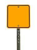 Пустой квадратный знак предосторежения Стоковое фото RF
