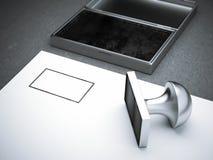 Пустой квадратный штемпель металла стоковая фотография rf